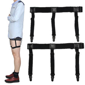 Men Suspenders Shirt-Holder Braces Elastic Adjustable Gentleman Stays Leg Uniform Business-Tirantes