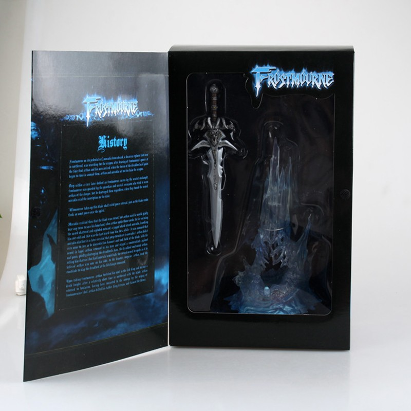 "WOW Arthas Menethil's Weapon Frostmourne Sword with Lighting Figma Starz Game Anime pvc action figure toy kids birthday toys 11"" 1"