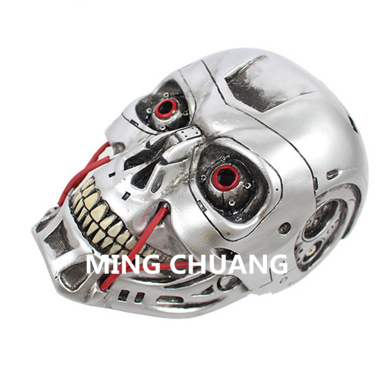 Cheap Sale Cosplay The Terminator Mask Helmet Halloween Props Resin 26cm Action Figure Collectible Model Toy Christmas Present Z175 Highly Polished