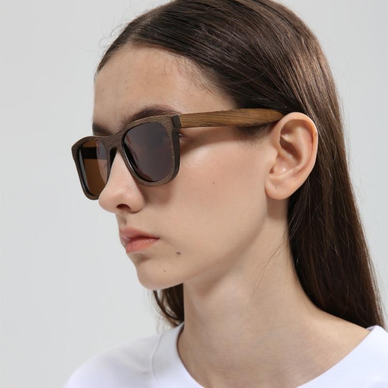 2018Men Wanita Keren Kacamata Fashion Terpolarisasi Kacamata Kayu - Aksesori pakaian - Foto 3