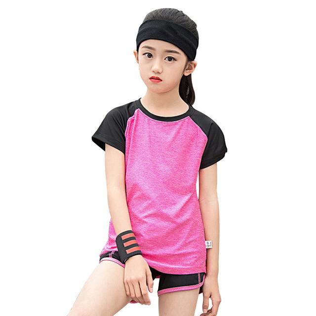 Girl's Sport Running Suit 2 pcs Set