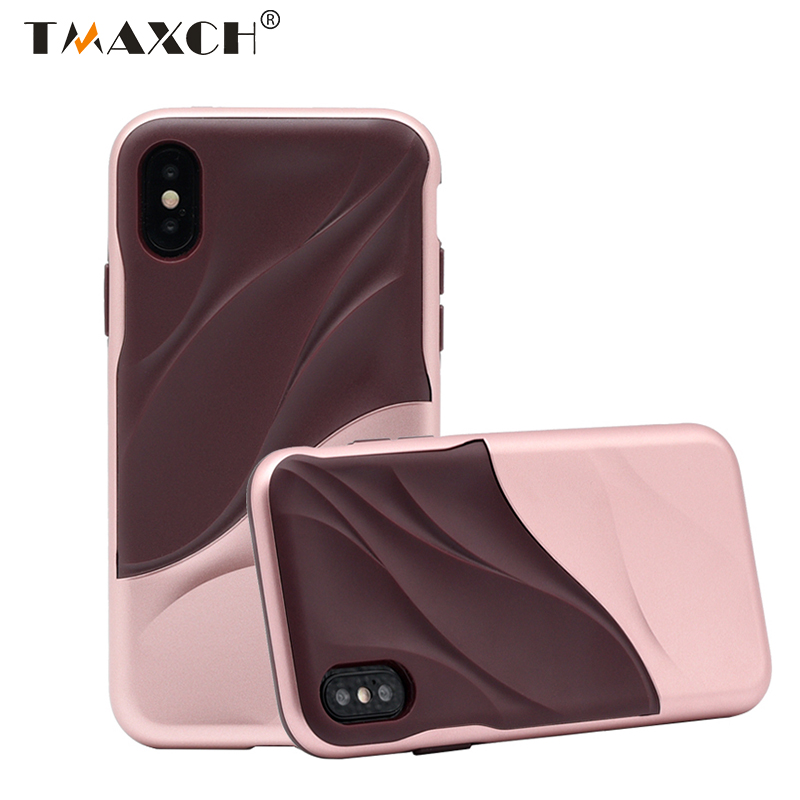 Shockproof Hybrid Armor 2 IN 1 PC+TPU Case for iphone X 6 6s 7 8 plus 3D Water Wave Cover for Samsung Galaxy S8 S9 S9plus Note 8
