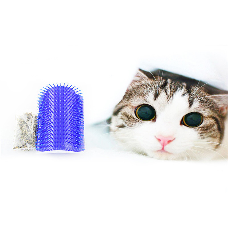 Cat Brush Groomer Attachable to Wall Corners