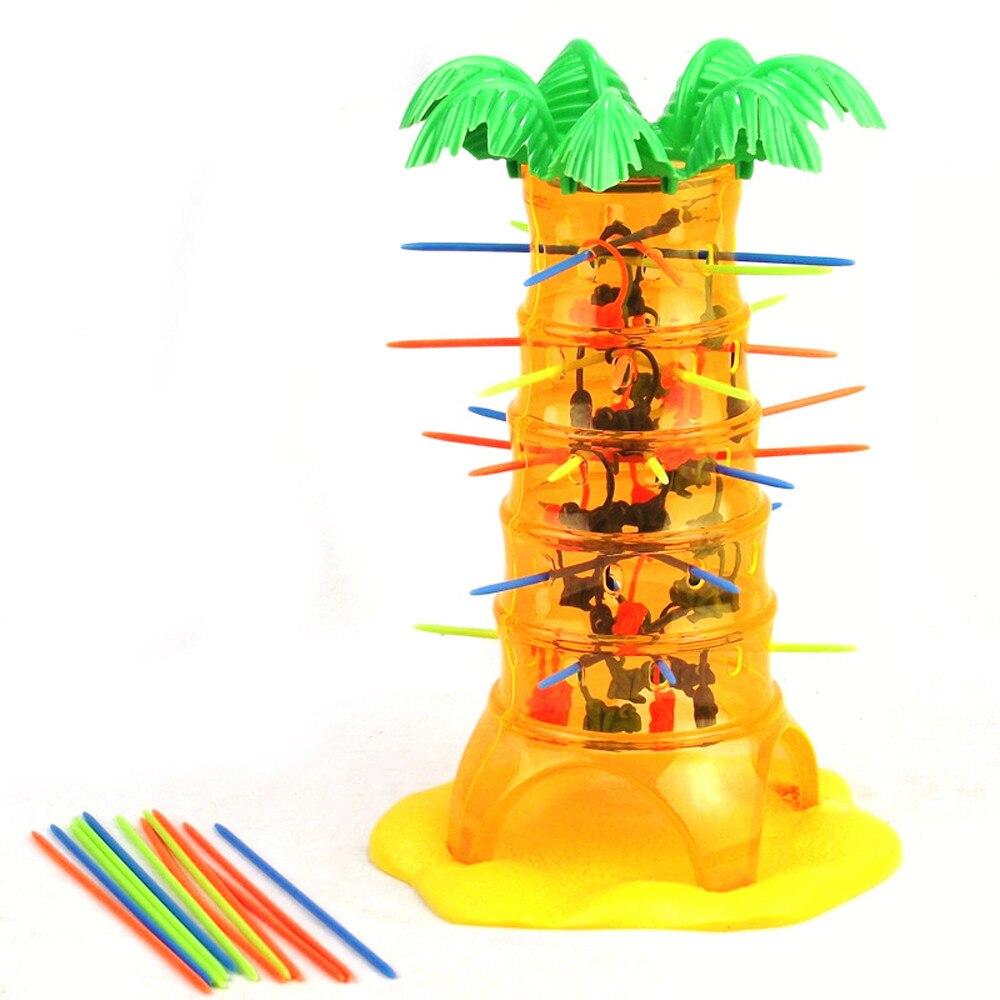 Kinder Spaß Spielzeug Geburtstag Geschenk Jungen Mädchen HEIßER Fallen Taumeln Affe Familie Spielzeug Klettern Bord Lustige Spiel Anti-stress