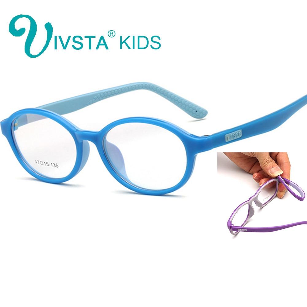 IVSTA TR90 Lembut Kacamata Anak-anak untuk Anak-anak Kacamata untuk Anak Perempuan Kacamata Anak-anak Silikon Karet Lengan Lensa Resep Kustom 805