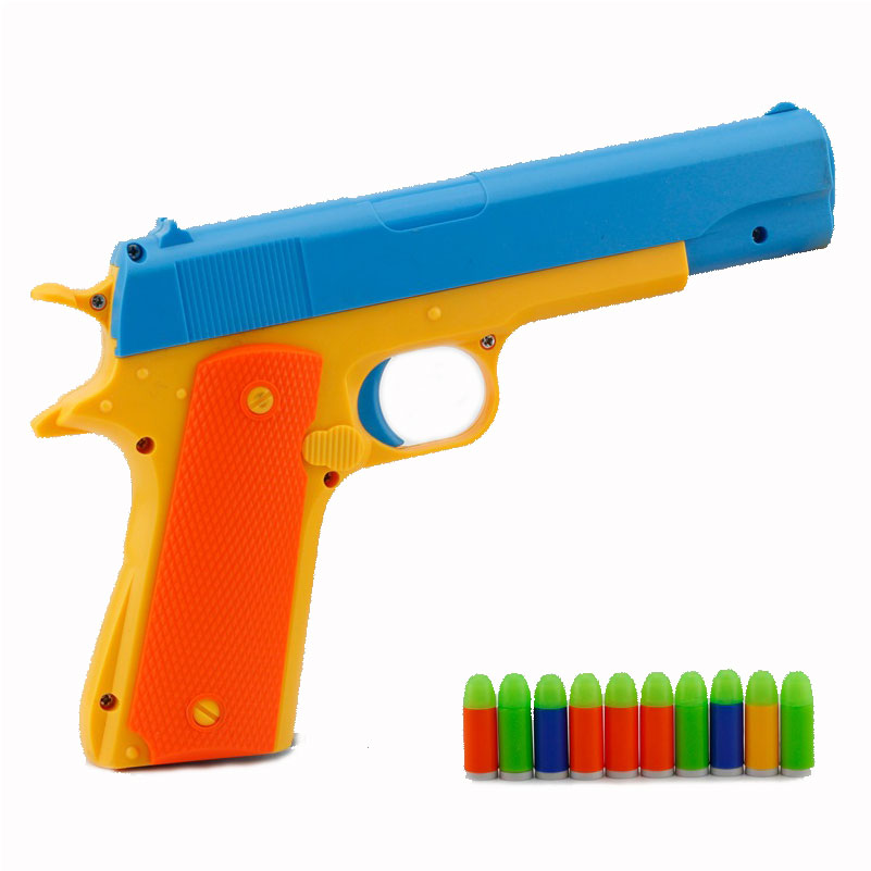Semi-automatic Pistol Soft Bullet Pistols Play House Props Luminous Bullet Game For Boys Arma De Brinquedo