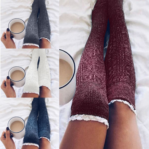 Sexy Women Cable Knit Extra Long Boot Socks Over Knee -7498