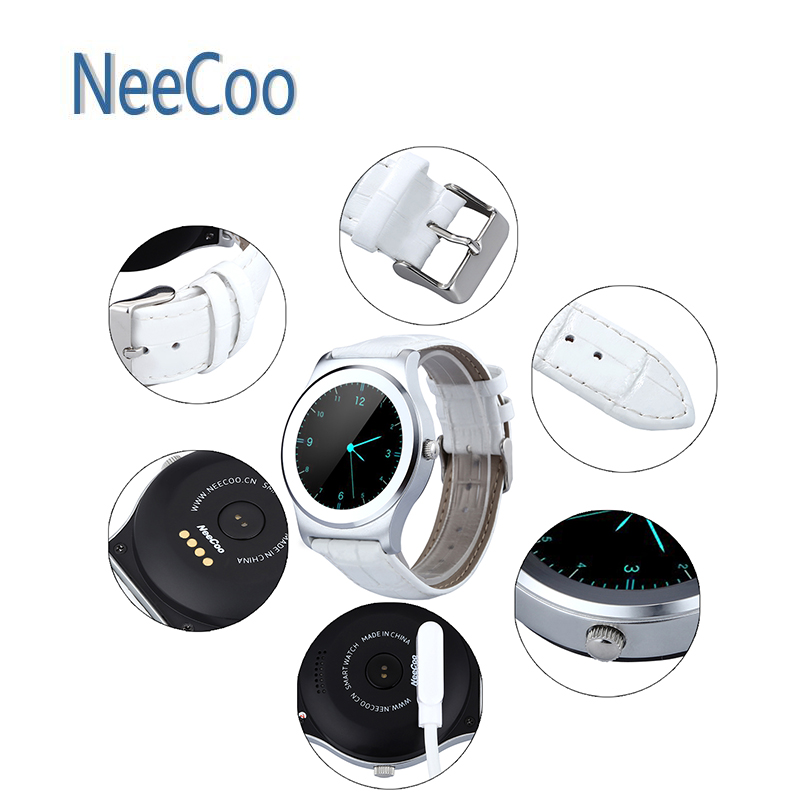 ФОТО Smart Wrist Watch NeeCoo V3 Heart Rate Monitor Remote Capture Finding Phone Voice Recognition Calls/SMS Sedentary Reminder