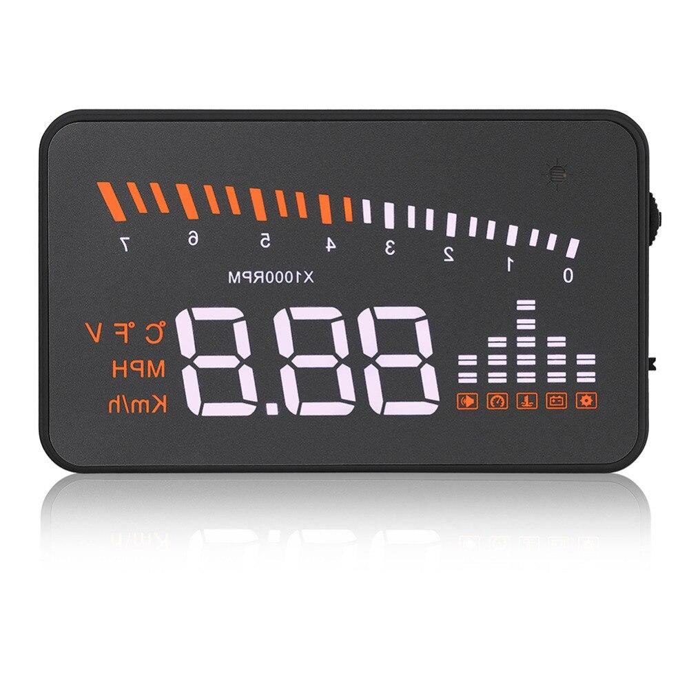 imágenes para Car Auto OBDII HUD Head Up Display Color LED Proyector Sistema de Alerta de velocidad Más de Alerta de Velocidad para Camiones de Coches de Alarma velocímetro