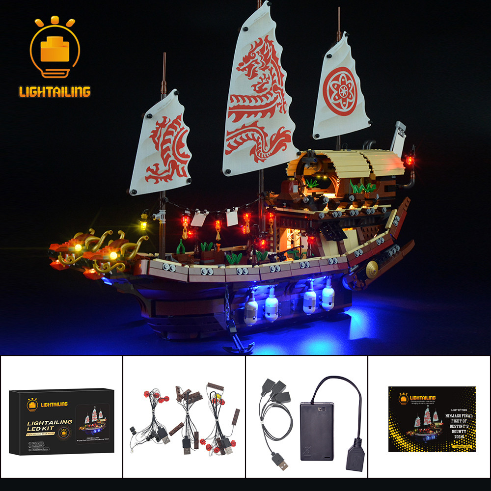 LIGHTAILING Led Light Up Kit For Ninja Temple Of Airjitzu Light Set Compatible With 70618 NOT