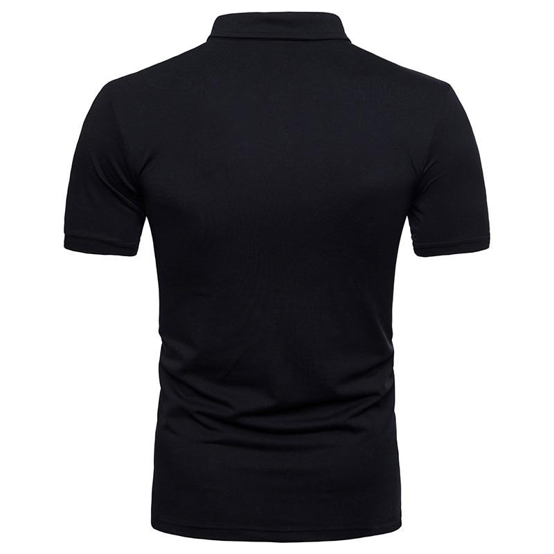 FFXZSJ 2018 Män Summer Short Sleeved Solid Color Pikétröjor Man - Herrkläder - Foto 4