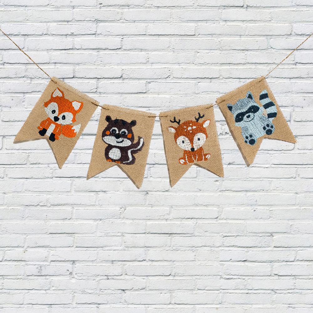 Fanion Chambre Bébé Garcon fanion les animaux de la forêt pour décorer la chambre de bébé