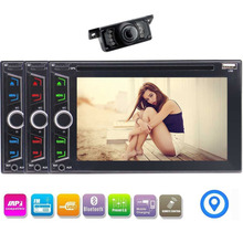 "6.2"" DVD CD Navigation Multimedia Player in Dash Double Din Car Radio GPS Navigation Wireless Bluetooth Music SWC+Rear Camera"