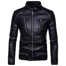Mens Leather Jackets Bomber Jackets Fashion Men Faux Leather Overcoat Motorcycle Cowboy Jacket Punk Thick Coats Mens Clothing mens pu leather jacket male business casual coats thick coats slim clothes jackets men cowboy jackets classic motorcycle bike