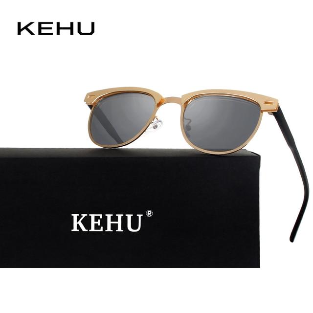 KEHU Novos Homens Da Moda Óculos Polarizados Masculino Lente Polaroid  Óculos de Sol de Luxo de e065e6bc6e