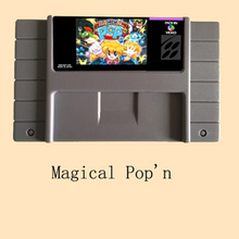 Magical Pop'n USA Version 16 bit Big Gray Game Card For NTSC/PAL Game Player