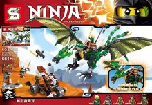 SY592 Ninjagoes Phantom Ninja Taoists Green Dragon Minifigures Building Block Minifigure Best Toys