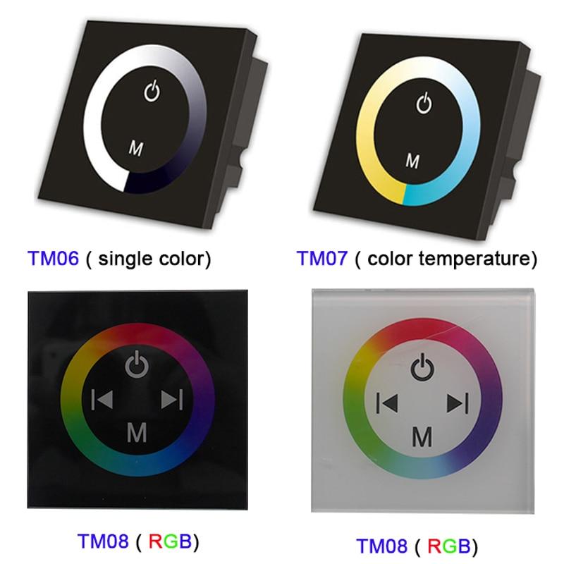 Licht & Beleuchtung 100% Wahr Tm06 Tm07 Tm08 Dc12v-24v Wand Montiert Einzigen Farbe/ct/rgb Led Touch Panel Controller Glas Dimmer Schalter Für Led Streifen Licht 100% Hochwertige Materialien