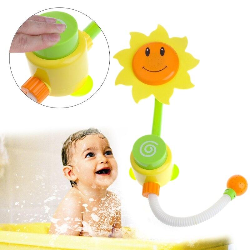 HBB Children Baby Bath Toys Sunflower Bath Water Faucet Shower Gift