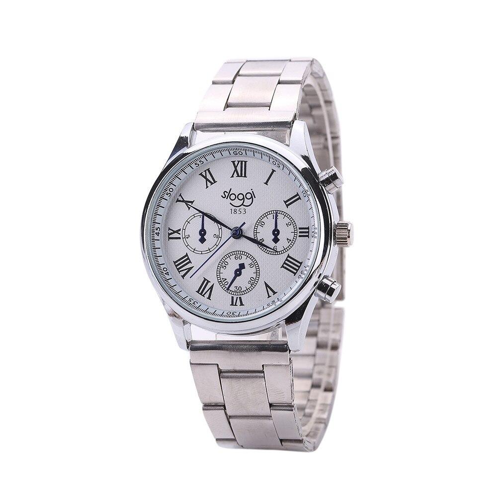 Gofuly 2020 Fashion Wristwatches Women Stainless Steel Band Dress Watches Men Business Quartz-Watch Relojes Relogio Masculino