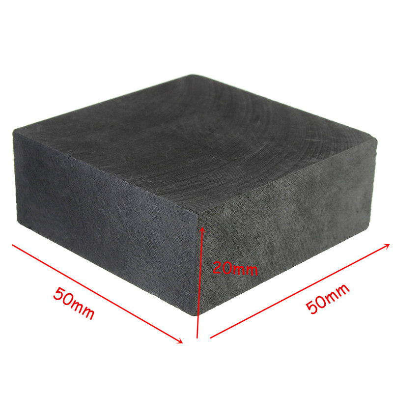 New 50 X 50 X 20mm High Purity 99.9% Graphite Ingot Block Melting Point 3850 + 50 Degree Widely Used In Electronics Metallurgy