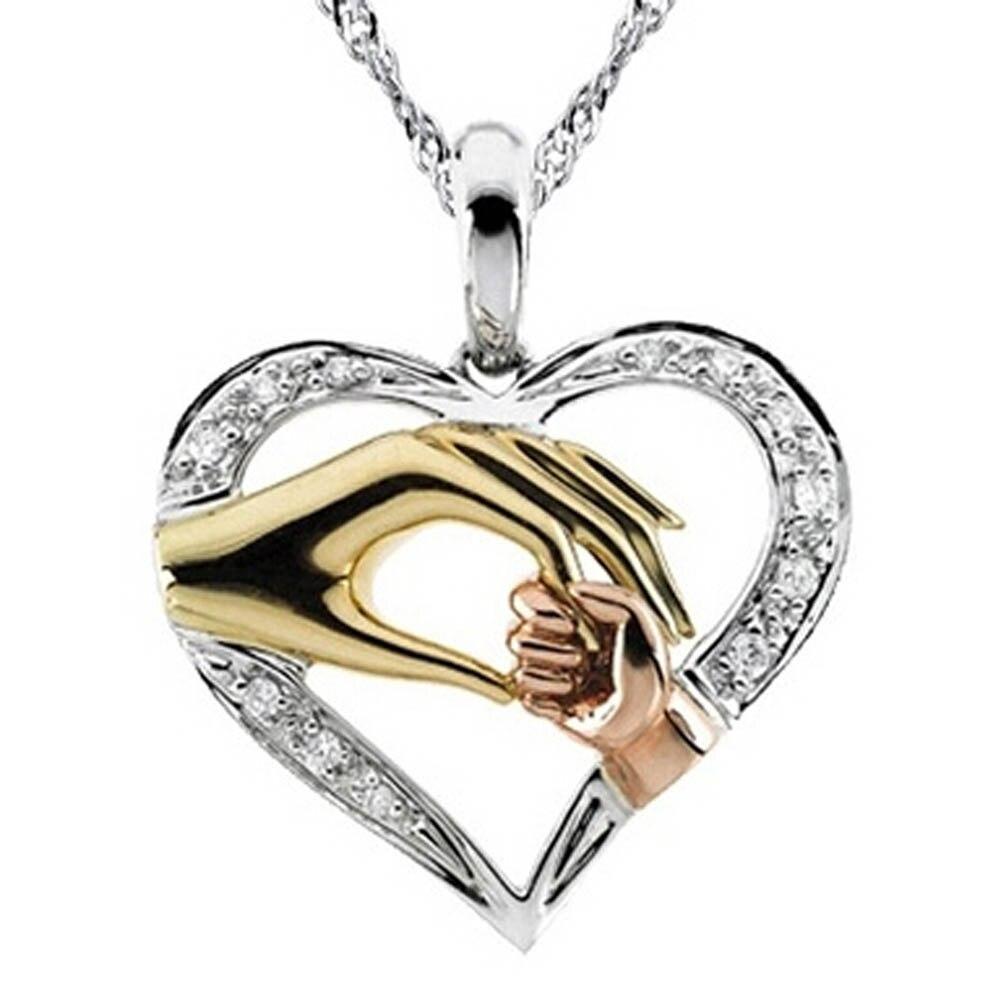 2016Dámy šperky Den matek Dárkový přívěsek s přívěskem ve tvaru dlaně Maminka a kojenecká ruka s vlnami Řetěz Drop Drop