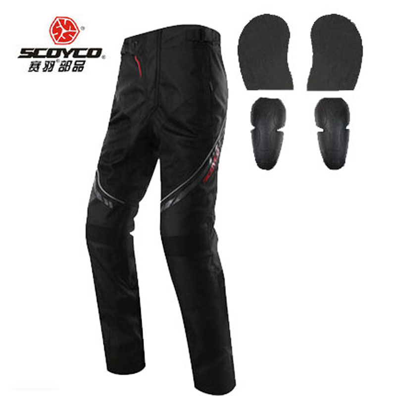 breathable Durable SCOYCO P027-2 Oxford motocross pants equipment moto motorcycle trousers with knee hip pad
