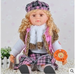"24"" New Style Intelligent Speaking Talking Doll Sound Doll free Shipping"