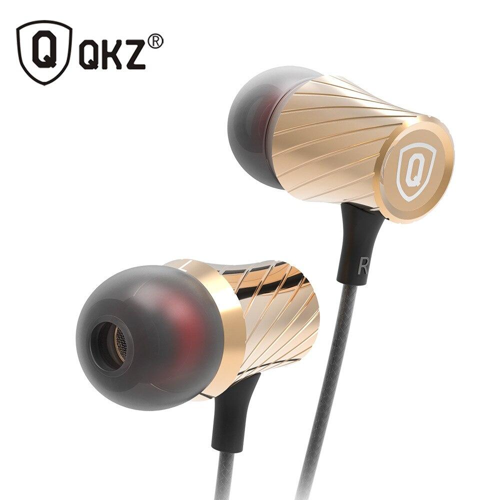 QKZ DM3 Bass fone de ouvido Estéreo Fone de Ouvido fone de Ouvido 3.5 milímetros fone de Ouvido Em Fones De Ouvido Com Microfone Para fone de ouvido de Telefone