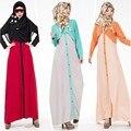 2016 Новые Мусульманские Платья Малайцы поддельные из двух частей абая горячей продажи на ближнем Востоке мусульманское платье абая длинные исламские юбки #602