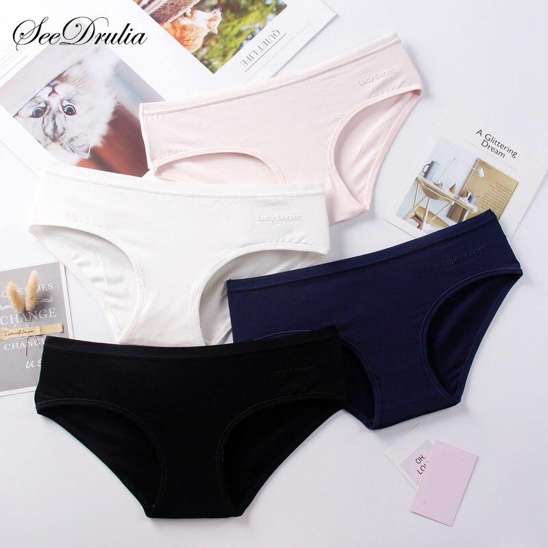SEEDRULIA Women Sexy   Panties   Plus Size Briefs Girl Lingeries Cueca Calcinha Shorts Underpant Cotton   Panty   Women Underwear