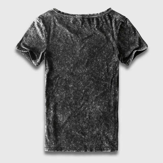 7016365f8d1fc placeholder Zecmos Preto T-Shirt Dos Homens Tamanho China Moda Pesado  Lavado Do Vintage T camisas