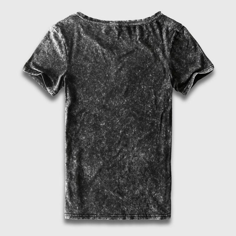 Zecmos Vintage Black T-Shirt Mænd Kina Størrelse Fashion Heavy - Herretøj - Foto 2