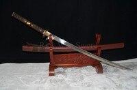 HIGH QUALITY HANDMADE Japanese samurai sword katana 1060 carbon steel full tang can cut bamboo tree brown saya