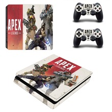 APEX Legends PS4 Slim Skin Sticker Decal for PlayStation 4 Console and Controller Skin PS4 Slim Sticker Vinyl dharma design skin decal sticker for the playstation 3 ps3 slim console