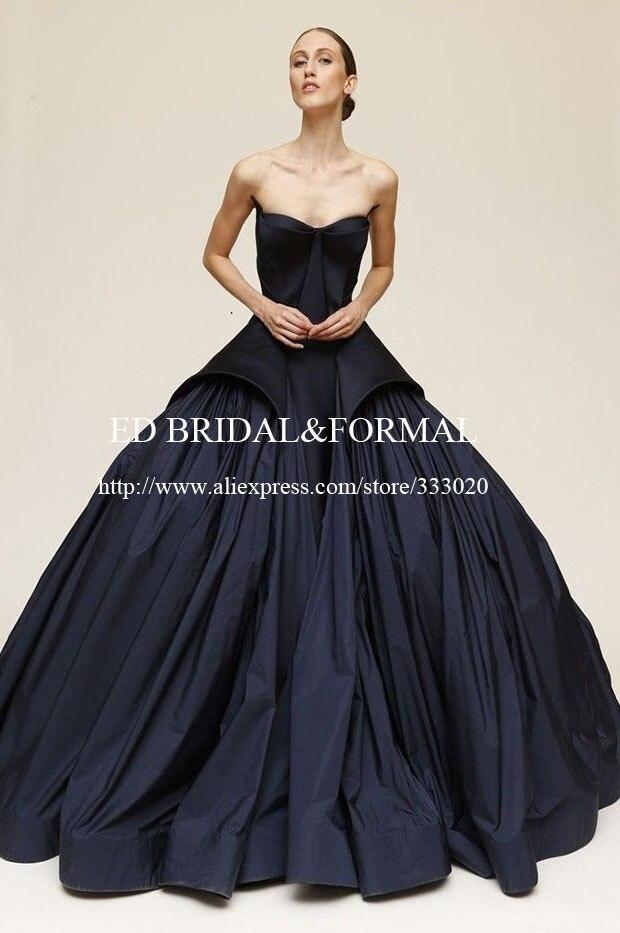 Aliexpress.com : Buy Rihanna Navy Blue Dress Ball Gown Spring 2015 ...