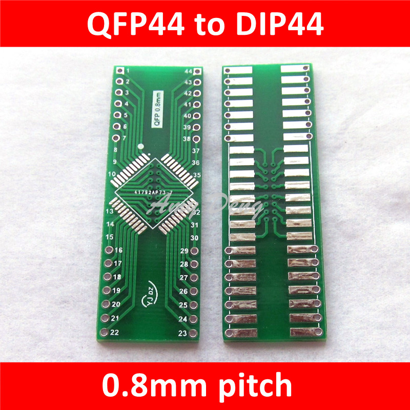 Pcb & Pcba 50pcs/lot Qfp44 Turn Dip44 Pitch 0.8mm Smd Turn Dip Adapter Plate Lqfp44 Conversion Seat Seat Products Are Sold Without Limitations