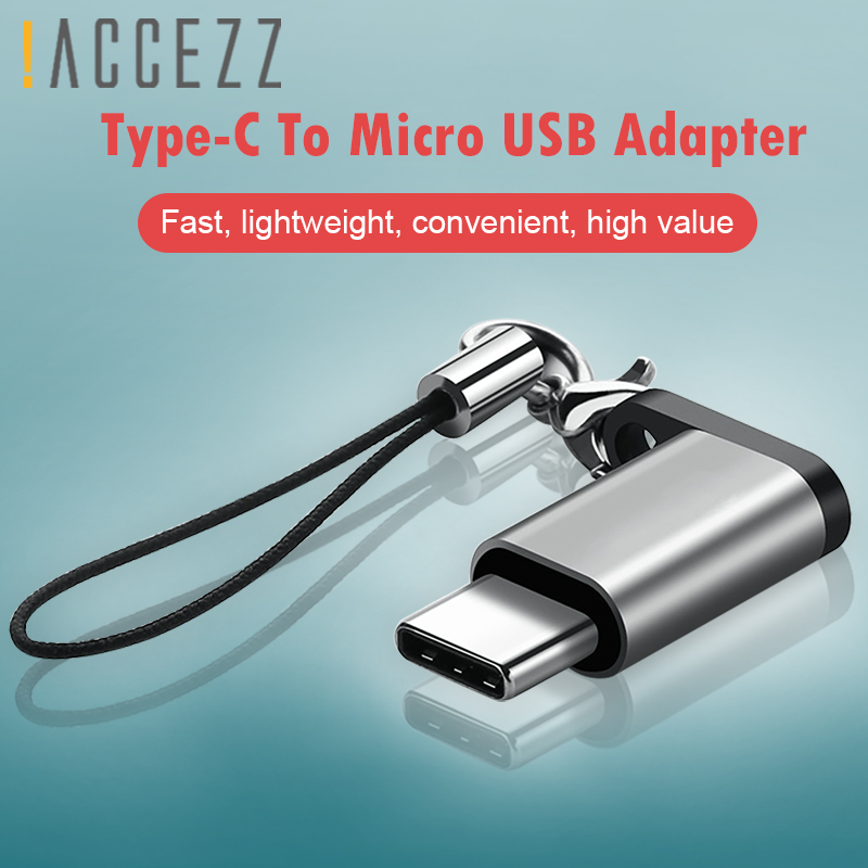 !ACCEZZ OTG Adapter Type C Male To Micro USB Female Converter For LG G5 G6 Xiaomi Mi 6 5 Fast Charging Data Sync USB Connector
