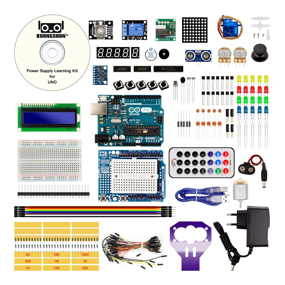 Arduino UNO проекта наиболее полного Starter Kit для Arduino Mega2560 UNO Nano с учебник/питания/двигателя