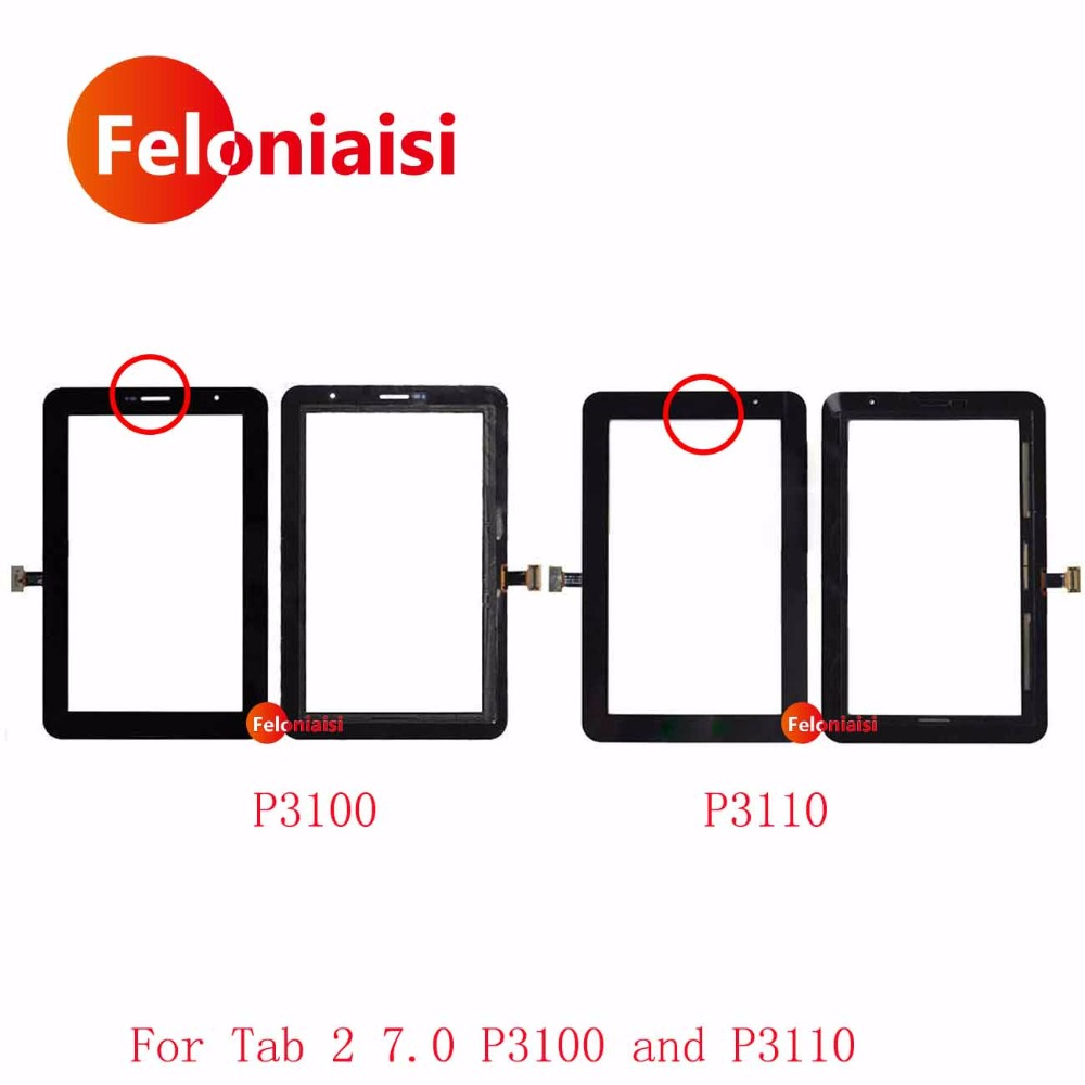 цена на High Quality 7.0 For Samsung Galaxy Tab 2 7.0 P3100 P3110 Touch Screen Digitizer Sensor Front Outer Glass Lens Panel+Tracking