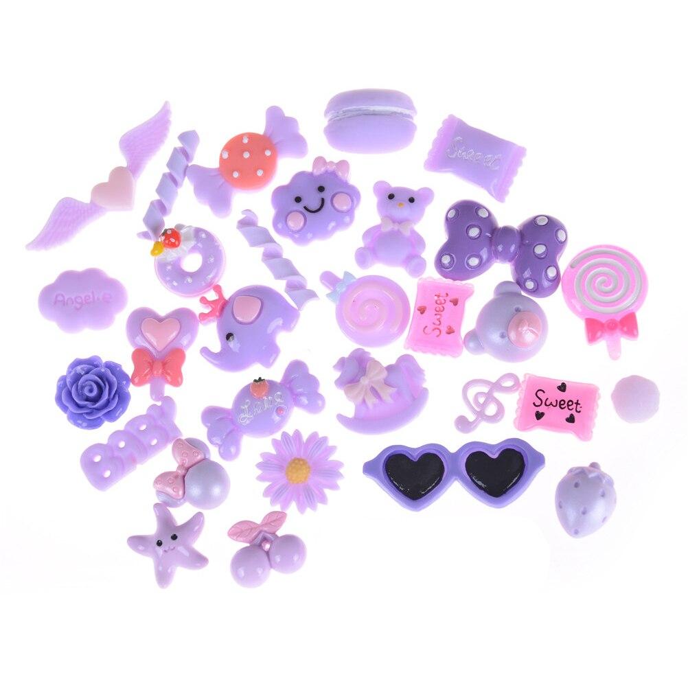 10 Stks Kunstmatige Hars Snoep Zoete Voedsel Kawaii Speelgoed Poppenhuis/miniaturen Mobiele Telefoon Diy Accessoires Ziekten Voorkomen En Genezen