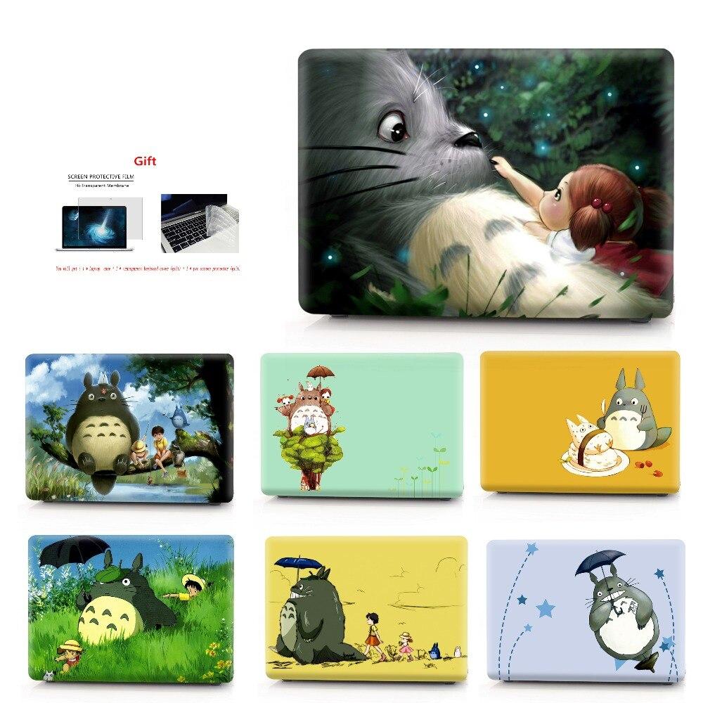 Bilgisayar ve Ofis'ten Dizüstü Bilgisayar Çanta ve Kılıfları'de Totoro Renkli baskı Dizüstü Bilgisayar MacBook çantası Hava Retina Pro 11 12 13 15 Dokunmatik Bar ile MacBook Için Yeni Hava 13 yeni Pro13 15 title=