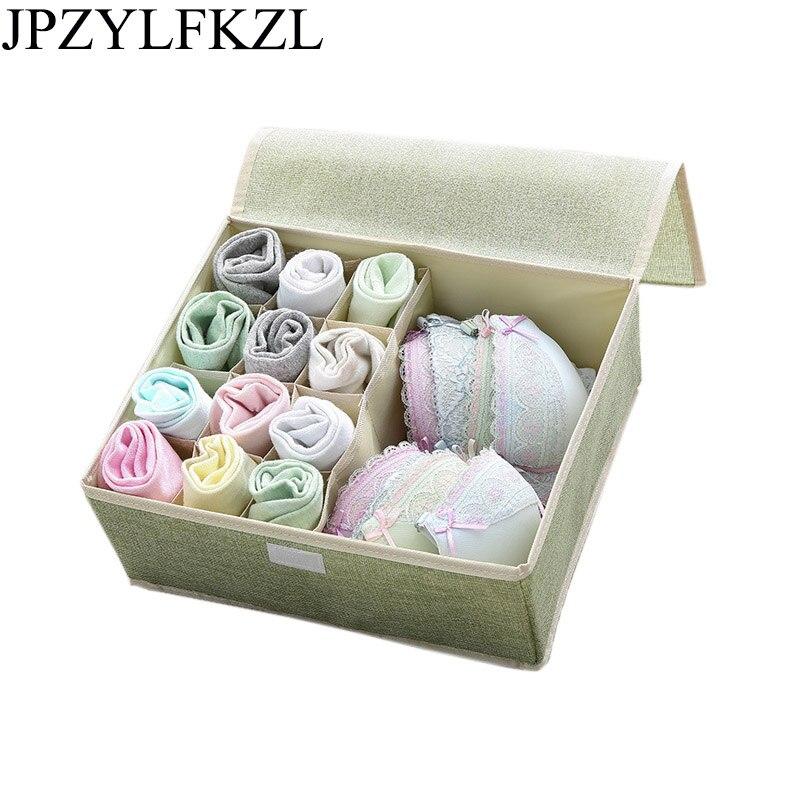 Container Socks Drawer-Organizer Divider-Box Underwear Storage-Box Closet Folding Fashion