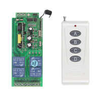 1000m Long Range 10A Relay AC 220V 110V 85-265V 4 CH 4CH Wireless RF Remote  Control Switch Transmitter With Receiver