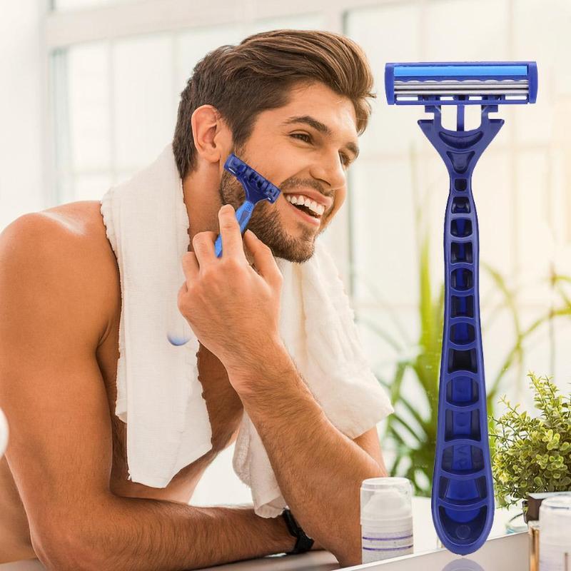 3-Layers Blades Portable Manual Razor For Men Face Razor Blades Hotel Disposable Shaver Body Trimmer
