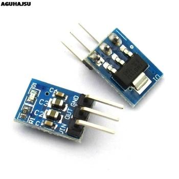 5 unids/lote alta calidad 5V a 3,3 V para DC-DC fuente de alimentación reductor módulo Buck AMS1117 LDO 800MA