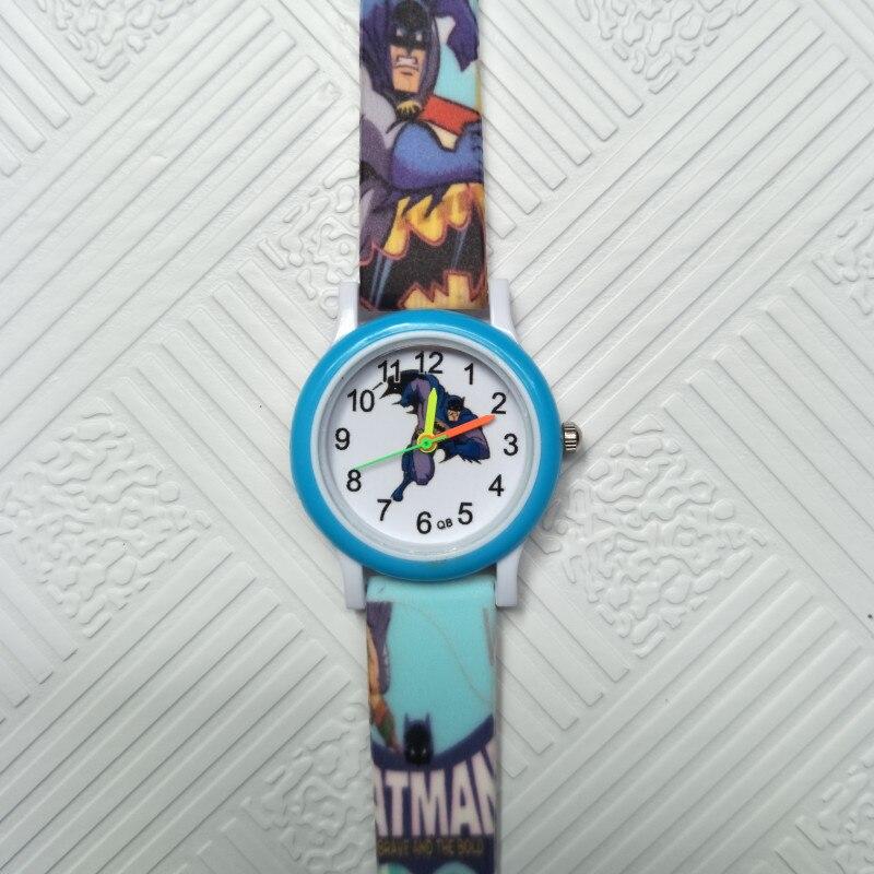 Cartoon Batman Hero Acrylic Quartz Children Watch Kids Boys Girls Casual Fashion Bracelet Wrist Watches Kid Clock Relogio Garoto