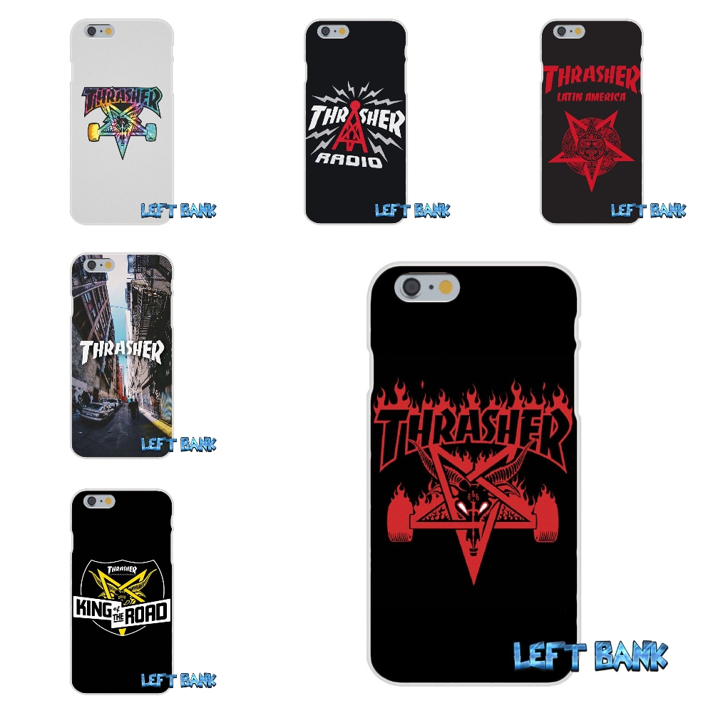 For iPhone 4 4S 5 5S 5C SE 6 6S 7 Plus Thrasher Goat Logo Soft Silicone TPU Transparent Cover Case