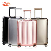 100% Full Aluminum Rolling Luggage Travel Suitcase Travel Luggage Koffers Trolleys Vintage Luggage Rolling
