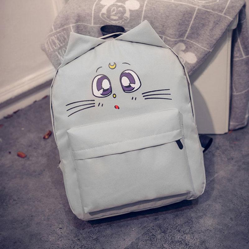 gato bonito impressão mochilas para Estilo2 : School Bags For Teenager Girls